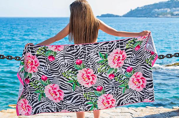 Dreamtowel strandlaken Zebra flower